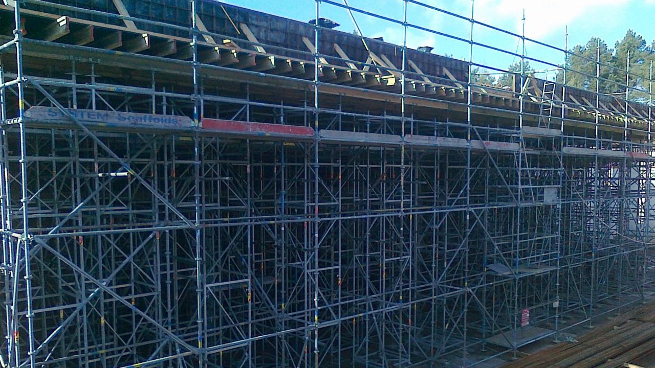 Quadriga realizacje: Rusztowanie podporowe ID15 oraz szalunki stropowe, Strzelnica Wojkowa, Śrem