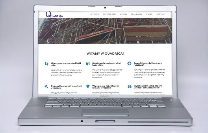 Quadriga.pl uruchamia nową stronę z informacjami o rusztowaniach i pozostałych usługach