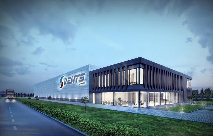 Firma Quadriga montuje rusztowania na obiekcie Biurowiec Vents Group, Niepruszewo k. Poznania