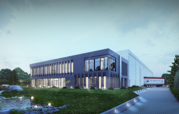 Firma Quadriga montuje rusztowania naobiekcie Biurowiec Vents Group, Niepruszewo k. Poznania