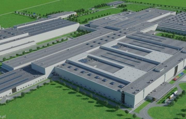 Firma Quadriga montuje rusztowania na obiekcie Fabryka VW Crafter, Września