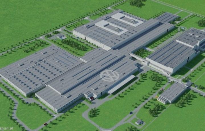 Firma Quadriga montuje rusztowania naobiekcie Fabryka VW Crafter, Września