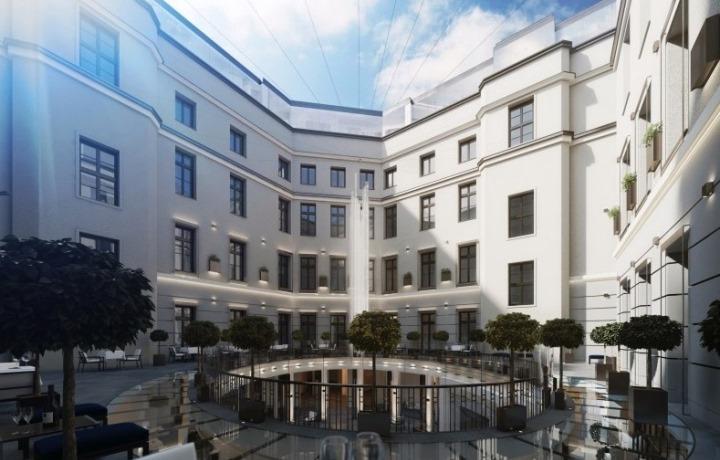 Firma Quadriga montuje rusztowania na obiekcie Zabytkowa Kamienica, ul. Młyńska, Poznań